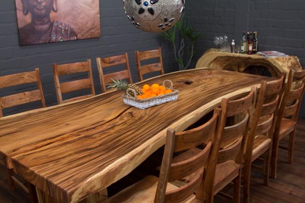 3 meter massivholz esstisch aus suarholz baumscheibe for Esstisch 3 meter
