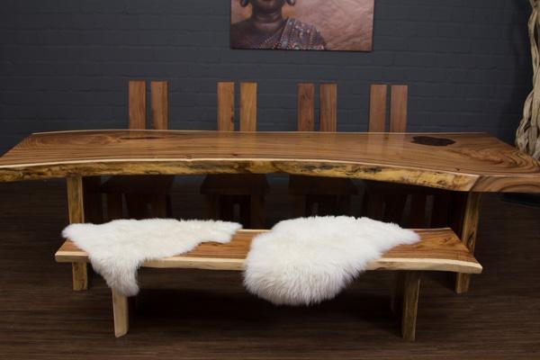esstisch baumstamm baumscheibe suar 301x105x78 massivholz. Black Bedroom Furniture Sets. Home Design Ideas