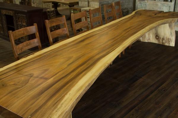 Details zu Tisch Baumstamm 505x127x78 Baumscheibe 5 Meter lang Massiv Suar Konferenztisch