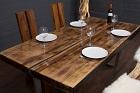 Baumstamm Esstisch aus einer Massivholz Baumscheibe mit Harz. Nr.16787