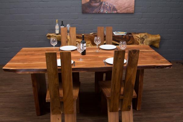 esstisch baumstamm massivholz suar 214x100x77 planken. Black Bedroom Furniture Sets. Home Design Ideas