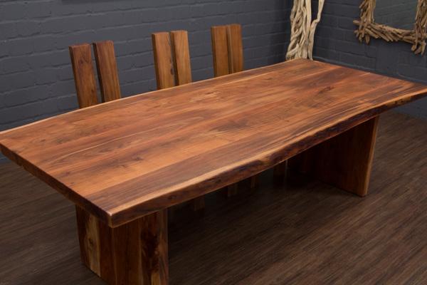 esstisch massivholz baumstamm planken 250x110x77 tisch. Black Bedroom Furniture Sets. Home Design Ideas