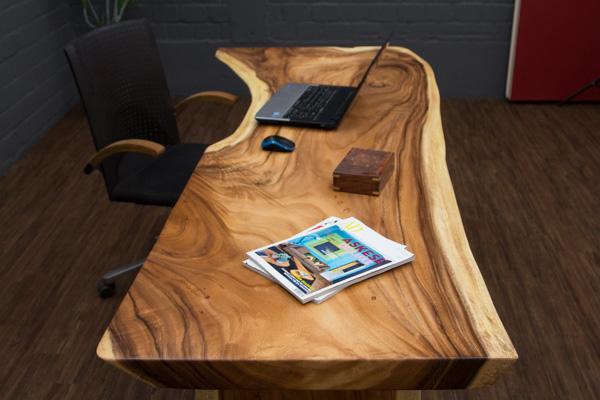 Schreibtisch extravagant  Baumscheiben Schreibtisch aus einem Suar Holz Baumstamm. Nr.16041