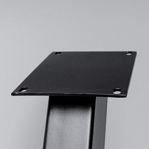 sehr gro es tischgestelll in v form aus schwarzem metall. Black Bedroom Furniture Sets. Home Design Ideas